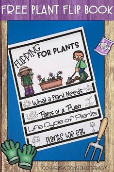 Flipping for Plants Life Cycle and Parts of a Plant Flip Book Plant Activities! Parts of a Plant and Plant Life Cycle- Flipping for Plants Flip book for plant unit in the classroom. kindergarten, first grade, second grade, third grade Plant Lessons, Science Lessons, Teaching Science, Life Science, Writing Activities, Science Activities, Sequencing Activities, First Grade Activities, Teaching Plants