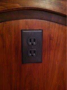 They sell these outlet covers for like $12 apiece at Restoration Hardware. You can now get the look for free.