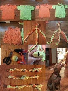 Easy DIY dog toy!