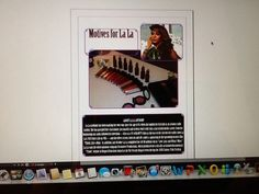 """My own advertisement idea for La La's makeup line """"Motives"""". This was created in indesign."""