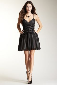 Chevron Mesh Dress