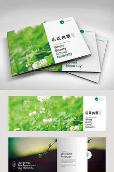 Green fashion fresh Brochure template design#pikbest#templates Brochure Food, Brochure Layout, Web Layout, Corporate Brochure, Corporate Design, Brochure Design, Layout Design, Print Design, Graphic Design
