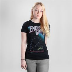 Express your love of literature in this soft women's literary t-shirt of Ender's Game by Orson Scott Card. Purchase of this tee sends one book to a community in need.