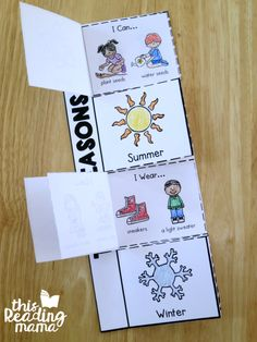 4 Seasons Flip Book {2 FREE Levels} - This Reading Mama