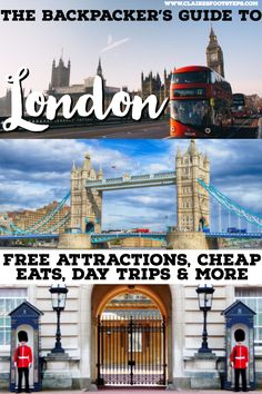 If you're planning on backpacking London and are searching for free things to do in London, cheap restaurants in London and day trips from London, this guide will show you the best ways to see London on the cheap. Find out how to travel London with little Europe Destinations, Europe Travel Tips, European Travel, Travel Guides, Travel Hacks, Travel Uk, Travel England, Hawaii Travel, Holiday Destinations