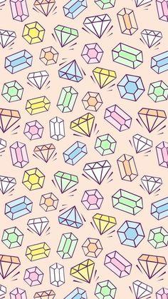 Pattern Images, Painted Pots, Diamond Gemstone, Image Sharing, Find Image, We Heart It, Jewerly, Pastel, Kawaii