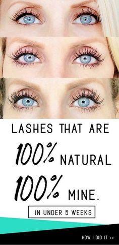 5 Ways to Naturally Lengthen Eyelashes Beauty Care, Beauty Skin, Health And Beauty, Beauty Makeup, Hair Beauty, How To Grow Eyelashes, Longer Eyelashes, Long Lashes, False Eyelashes