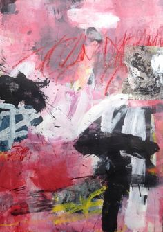 Jean-Charles Millepied, acrylic, collage and pastel on paper, 70x100 cm