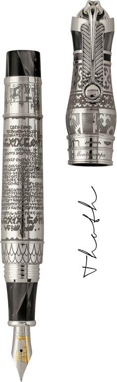 "Ancient Civilisation ""Thoth"" Stilografica, Argento, Medio"