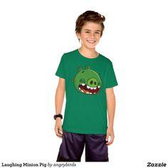 Angry Birds - Laughing Minion Pig T Shirt. Producto disponible en tienda Zazzle. Vestuario, moda. Product available in Zazzle store. Fashion wardrobe. Regalos, Gifts. Link to product: http://www.zazzle.com/laughing_minion_pig_t_shirt-235406751452289922?view=113055934133818638&CMPN=shareicon&lang=en&social=true&rf=238167879144476949 #camiseta #tshirt