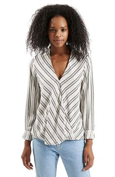 Topshop Stripe Blouse