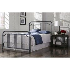 Wellesly Iron Bed in Marbled Navy by Fashion Bed Group