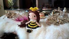 crochet amigurumi  Doll   Daisy toy rattle