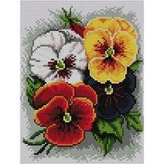 Cross Stitch Alphabet Patterns, Cross Stitch Art, Cross Stitch Needles, Cross Stitch Flowers, Cross Stitching, Cross Stitch Embroidery, Mosaic Flowers, Butterfly Flowers, Chicken Cross Stitch