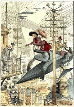 """""""La Vie Électrique"""" by Albert Robida, 1890 - Retronaut"""