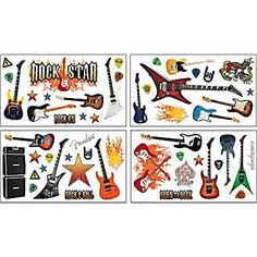 Paper House Wall Appliques, Fender Rock Star