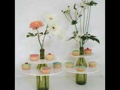 Flowers Painting Vase Glass Bottles 39 Ideas For 2019 Wine Bottle Crafts, Bottle Art, Bottle Painting, Bottles And Jars, Glass Bottles, Glass Vase, Deco Floral, Ideas Para Fiestas, Diy Cake