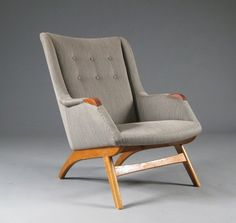 Easy Chair 1950s  Designer Arne Hovmand Olsen