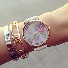 Vintage Blumen-Uhren für Frauen, Frauen Uhren, Frauen Uhren retro, vintage Damenuhren, Geschenke für sie, Geburtstagsgeschenk