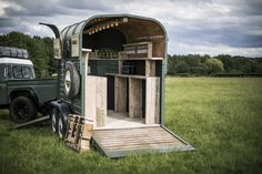 The trailer was taken back to bare metal and repainted with Keswick Green (Land Rover) enamel paint just like it would've been in the 1960's. The interior has been rebuilt using reclaimed scaffold boards that have a fantastic patina. | eBay!