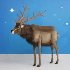 Buy the perfect life-sized reindeer at Christmas Night Inc., like the ride-on plush reindeer by Hansa. Life Size Statues, Christmas Night, Christmas Things, Christmas Yard Decorations, Christmas Tree Inspiration, Animal Statues, Plush Animals, Stuffed Animals, Nutcracker Christmas