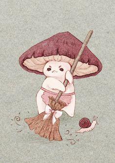 Character Inspiration, Character Art, Mushroom Art, Cute Drawings, Cute Wallpapers, Cute Art, Art Blog, Art Inspo, Art Sketches