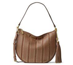 New Michael Kors MICHAEL Michael Kors Womens Brooklyn Leather Hobo Handbag Brown Large online. Find the  great ZAC POSEN Handbags from top store. Sku qflk97169vnyv45557