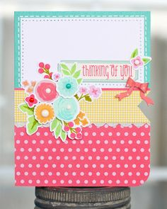 [Paper Lulu: I'm in love with a stamp set..] This could make a cute pocket.