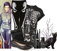 """""""Halloween night with my friends :)"""" by eleanor-calder-official ❤ liked on Polyvore"""