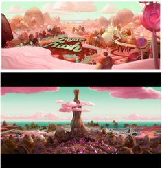 Walt Disney Animation Studios - Wreck-It Ralph (2012) - Sugar Rush concept art