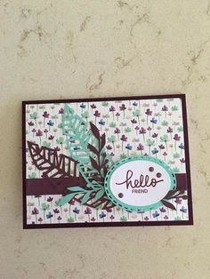 Stampin' Up! Feather Cards, Stampin Up Paper Pumpkin, Pumpkin Cards, Stamping Up Cards, Fall Cards, Card Sketches, Crafty Projects, Paper Crafts, Card Crafts
