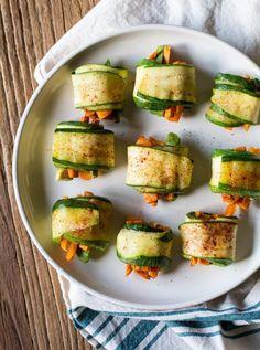 Vegan Zucchini Sweet Potato Rolls | KitchenDaily.com