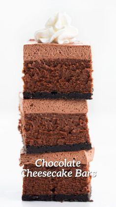 Elegant Desserts, Fancy Desserts, No Cook Desserts, Just Desserts, Delicious Desserts, Dessert Recipes, Chocolate Cheesecake, Cheesecake Bars, Cheesecake Recipes