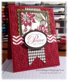 "Stunning ""Peace On Earth"" Card...Bada-Bing! Paper-Crafting!"