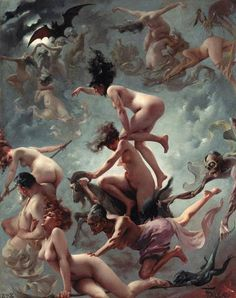 Luis Ricardo Falero (1851-1896): The Departure of The Witches, 1878.