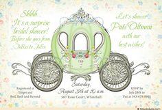 Cinderella Surprise Bridal Shower Invitations | ... notes field as needed fairytale cinderella bridal shower invitation