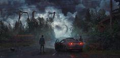 ArtStation - The Mist, Evgenij Kungur Zooey Deschanel, Supernatural, New Tomb Raider, The Hallow, Cave Drawings, Indie, Unusual Art, Comic Book Artists, Great Stories