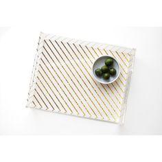 "Khristian A. Howell Stripe Acrylic Tray Size: 11"" W x 8.5"" D"