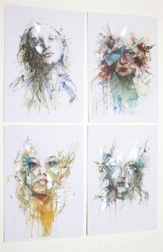Portraits fractured APART - textile response to paintings (Carne Griffiths - painting) Identity Art, A Level Art, Gcse Art, People Art, Textile Art, Art Drawings, Concept Art, Art Projects, Art Photography