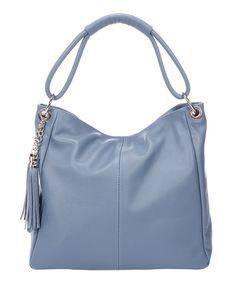 Lisa Minardi Glicine Tassel Pebbled Leather Hobo  80d69d016e224