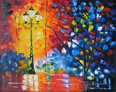 Night Lamp - Original Fine Art for Sale - � by Richard St.Jean