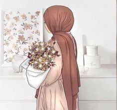 Cartoon Girl Images, Cartoon Girl Drawing, Girl Cartoon, Hijab Anime, Anime Muslim, Cute Muslim Couples, Muslim Girls, Hijabi Girl, Girl Hijab