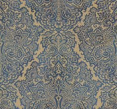 Harlequin Aurelia Sapphire Sapphire / Gold Wallpaper main image