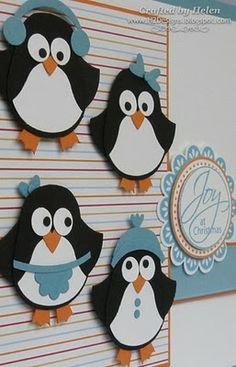 by Helen.... penguins (with flippers) from the SU owl punch