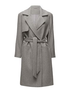 DAY - 2ND Livia Classic design Inner lining Storm flap The garment is made from a luxurious wool blend. Wool creates a breathable and insulating fabric that will keep you warm all winter long. Timeless Coat Grey Jacket