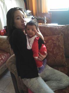 Con su hermosa mamá