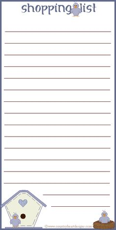 Shopping List by Country Heart Designs - Personal use only
