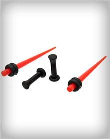 Red and Black Taper and Plug Set