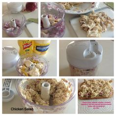 Chicken salad in manual processor. Vould make ground bologna salad for sandwiches too! Pampered Chef Party, Pampered Chef Recipes, Pampered Chef Food Chopper, Good Food, Yummy Food, Low Carb Recipes, Food Processor Recipes, Chicken Recipes, Easy Meals