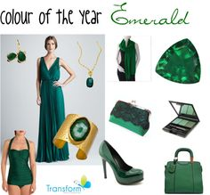 """""""2013 colour of the year - Emerald"""" by transform-image-consulting on Polyvore"""